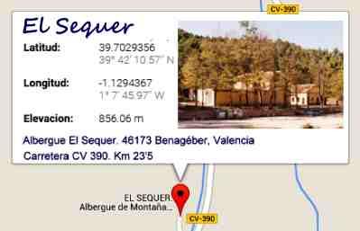 Benagéber, Albergue El Sequer