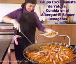 Comida en el Albergue de El Sequer, bajo reserva. Comida casera